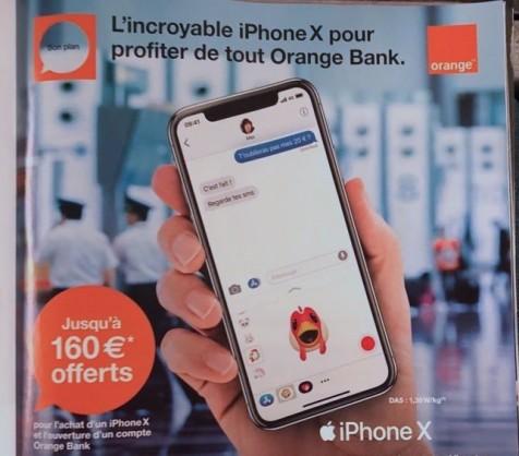 l'iphone X Orange Fixeo a Toulon